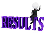 Results Concept. Results word on white background — Stock Photo
