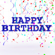 Foto Stock: 3D Happy Birthday Text