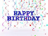3D Happy Birthday Text — Stock Photo