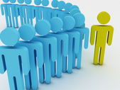 Large group. 3d group of illustration — Stock Photo