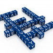 Social Media Network (from crossword series) — Stock Photo