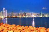 Ciudad de Panamá, horizonte del centro de la ciudad y la bahía de Panamá, Panamá, ciento — Foto de Stock
