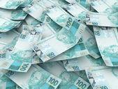 Nueva moneda brasileña - cien reales. — Foto de Stock