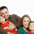 Family portrait looking happy and smiling — Stock Photo