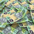 Australian Currency Close-up.  100 AUD - Stock Photo
