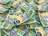 Australian Currency Close-up. 100 AUD — Stock Photo