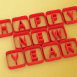 3D Happy New Year — Lizenzfreies Foto