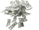 Falling Money $100 Bills — Stock Photo