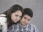 Mother and son with sad expression — Stock Photo