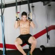 Ring dip crossfit exercise. — Stock Photo #17664417