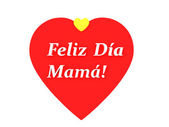 The sentence feliz dia de la madre, happy mothers day in spanish — Stock Photo