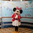 ORLANDO - FEB 3:  Minnie Mouse appears for the departing of the — Stok fotoğraf