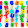 Stock Photo: 3d full alphabet with numerals