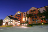 ORLANDO - FEB 2: Hotel Hyatt Regency in Orlando, Florida, USA on — Foto de Stock