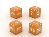 Red Dice Collection with words devoted to Retail — Stock Photo