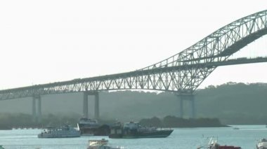 Bridge of the Americas, Panama City — Vídeo de Stock