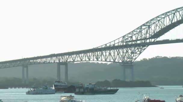 Pont des amériques, panama city — Vidéo