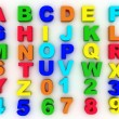 Stock Photo: Full alphabet with numerals
