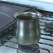 Putting coffee in coffee maker — Stock Video