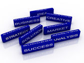 3d imagen to business success concept — Stock Photo