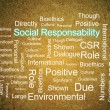 Stock Photo: Corporate Social Responsibility in word collage