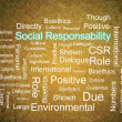 Corporate Social Responsibility in word collage — Stock Photo