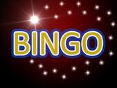 Bingo word on a movie scene background — Stock Photo