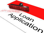 Loan Application Approved Showing Credit Agreement — Stock Photo