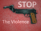 No gun violence symbol — Stock Photo