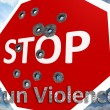 Stop gun violence — Stock Photo