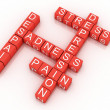 Depression cubes with the letters in a crossword puzzle  — Stock Photo