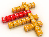 3d Bipolar disorder background — Stock Photo