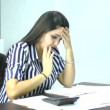 Woman frustrated having many debts — Vídeo de stock