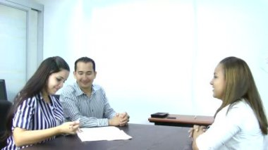 Young Couple Sign Document — Stock Video