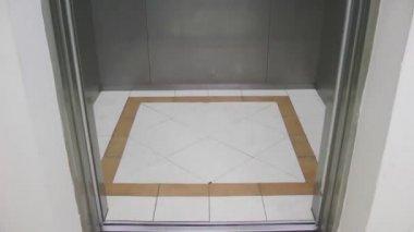 Inside Elevator and Doors open — Stock Video