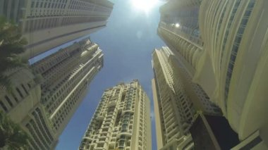 Tall buildings in a big city — Stock Video