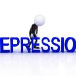 Depression 3d man sad on white background — Stock Photo #28358137