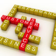 3d group of customer service related words — Stock Photo