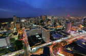 Panama City in the twilight — Stock Photo