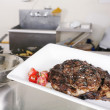 Stock Photo: Ribeye prepared and ready to eat
