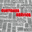 Background concept wordcloud illustration of customer service  — Stock Photo