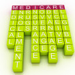 Stock Photo: Medicare Word Cloud Concept with great terms such as health