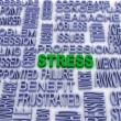 Stock Photo: 3d stress concept (word cloud)