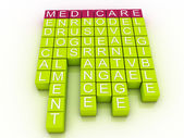 Medicare Word Cloud Concept with great terms such as health — Stock Photo