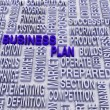3d Business plan and other related words. — Stock Photo