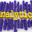 3d concept illustration of analytics business analysis — Stock Photo