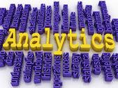 3d concept illustration of analytics business analysis — Stock Photo