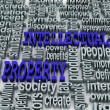 3d collage of Intellectual property and related words — Stock Photo