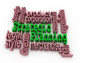 Strategic planning and related words — Stock Photo