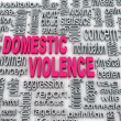 Stock Photo: 3d Concept diagram wordcloud illustration of domestic violence